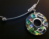 Abalone Shell Sterling Silver Choker Summer  Necklace