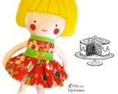 Doll Party Dress PDF Sewing Pattern Easy Doll Clothes