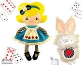 Alice in Wonderland White Rabbit Sewing Pattern PDF Play Set 1