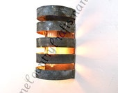 "LOFT V12 - ""Lacuna"" Wine Barrel Wall Sconce - 100% Recycled"