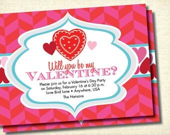 DIY Printable Valentine's Day Party Invitation