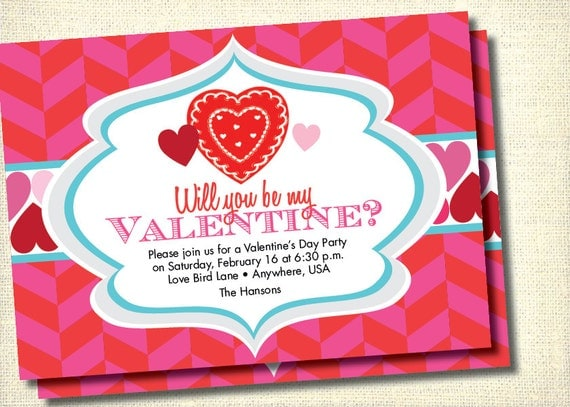 DIY Printable Valentines Day Party Invitation by loralangdesigns