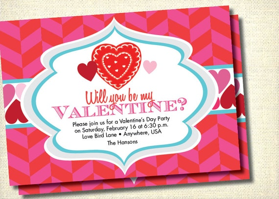 Diy Printable ValentineS Day Party Invitation
