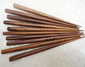 Six Inch Wooden Hair Sticks - End Drilled - Brown - Bulk / Wholesale - Set of 50 or 100