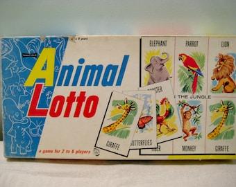 Vintage Animal Lotto Game