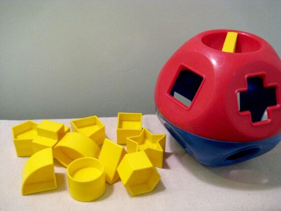 Vintage Tupperware Toys Shape O Shape Sorter Ball