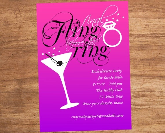Bachelor Party Invite Wording with perfect invitation example