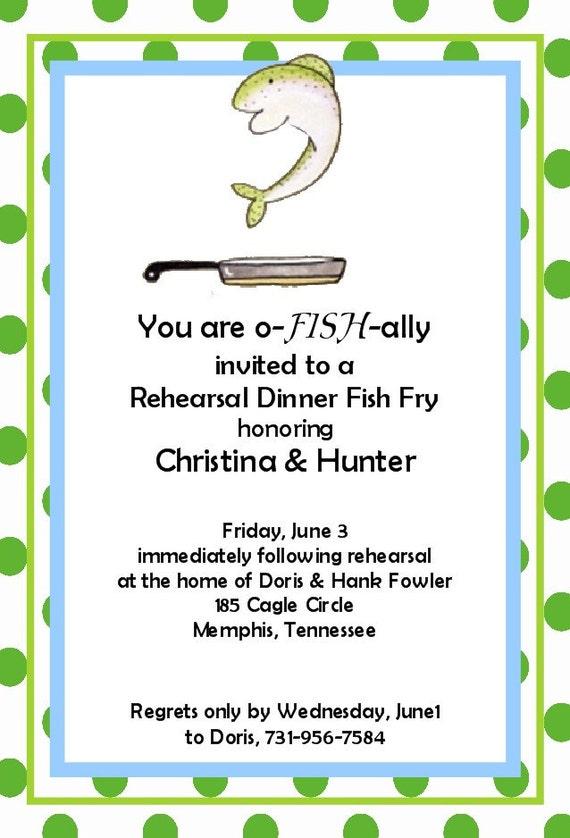 Fish Invitations is best invitation sample