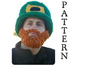 PATTERN--Adult St Patrick's Day Party Hat AND Beard