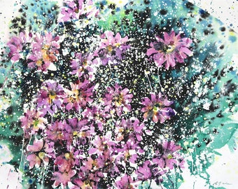 "Fresh Pick No.373, 22""x30"", original watercolor"