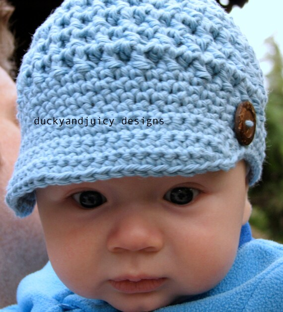 Crochet Baby Hat Patterns 6 Months : Items similar to Baby Crochet Hat - Baby Boy Hat - Baby ...