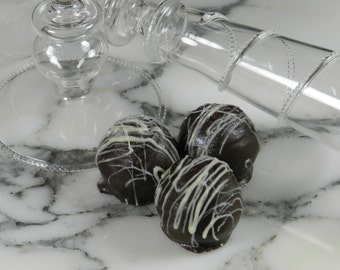 Chocolate Wine Truffles, Champagne, Wine Truffles, Dark Chocolate, Truffles, Wine Chocolate, Chocolate Wine, Gifts for Her, Hostess Gift