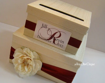 Wedding Card Box Wedding Money Holder Wedding Money Box- You customize