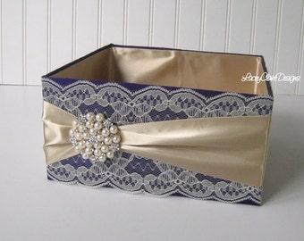 Program Box, Favor Box, Container for Bubbles, Bathroom Accessories Box, Centerpiece Box, Amenities Box, Program Basket, Custom Made