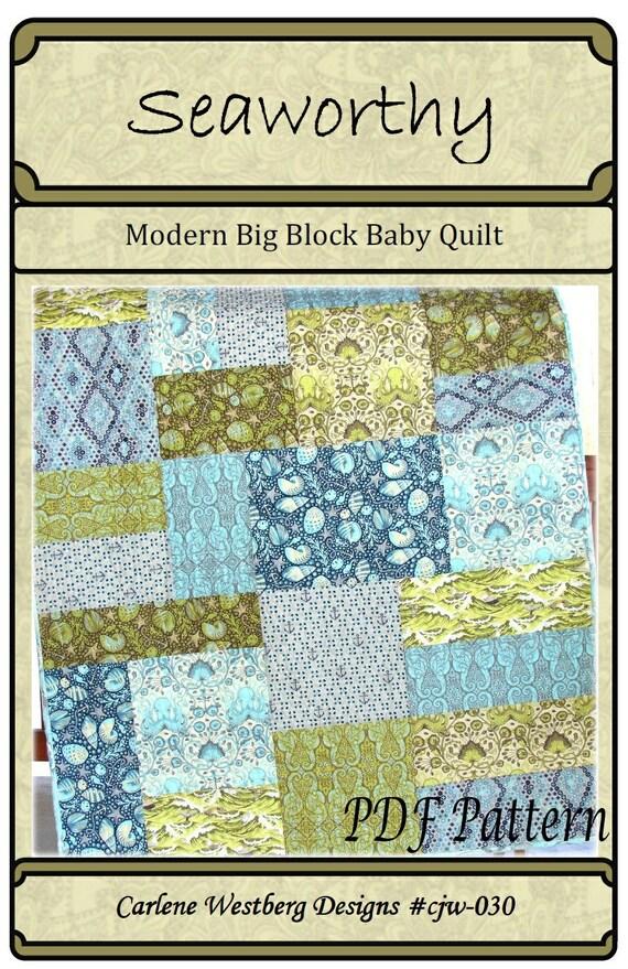 PDF Quilt Pattern Seaworthy Modern Big Block Quilt pattern : large block quilt patterns - Adamdwight.com