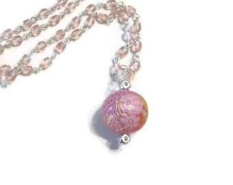 Venetian Pink Beaded Necklace