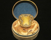 Vintage Powder Compact Rouge Compact Karess Woodworth Compact 1920's Compact Gold Compact With Powder Box RARE