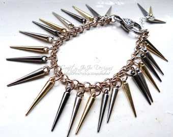 Spikes Charm Bracelet