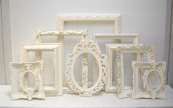 Details about brass photo frame vintage ornate oval frame victorian - Ornate Shabby Chic Frames 11 Ornate Picture Frames Painted