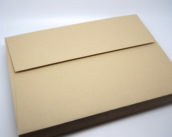 SMOOTH KRAFT Paper Envelopes - A7 - 5x7 - Qty 75 - Wedding Envelopes - Invitation Supply