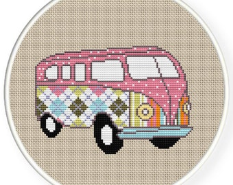 INSTANT DOWNLOAD,Free shipping,Cross stitch pattern, PDF,bus,zxxc0374