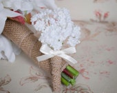 Baby's Breath Wedding Boutonniere - Gypsophila Boutonniere