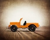 Vintage Toy Jeep, Photo Print, Boys Room decor, Construction Vehicle, Boys Nursery Ideas