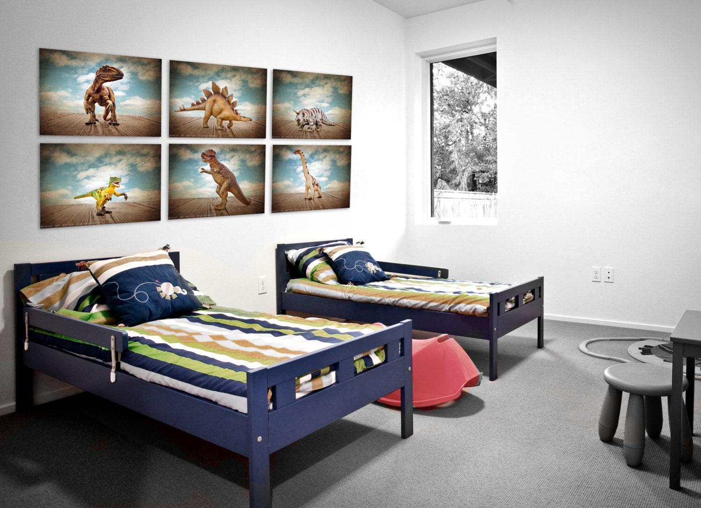 Set Of 6 Dinosaur Prints Boys Room Decor Dinosaur Art