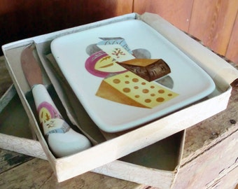 Midcentury Cheese Serving Set by Napco