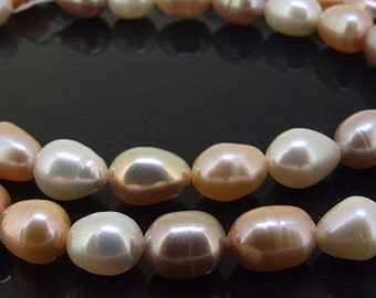 """Rice Freshwater pearl Cultured Pearl Lavender Pearl Pink Pearl White Pearl 6mm-7mm Gemstone Beads Full Strand 14.5"""""""