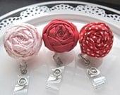 retractable id Fabric flower lanyard badge reel women accessories
