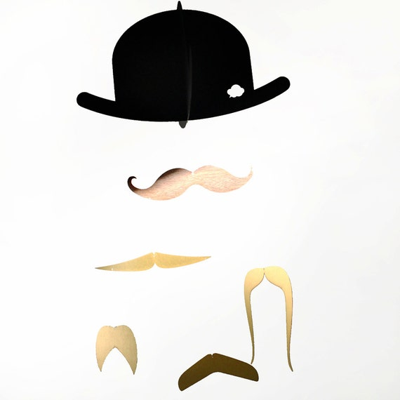 Mr. Moustache Baby Mobile Special Edition, gold