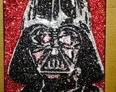 Darth Vader -glitter art 9x12