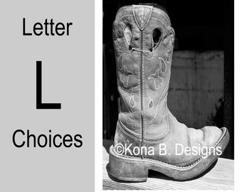 Letter L  -  Alphabet Photography  -  4x6 Photo Letter -  Unframed - Black and White or Sepia