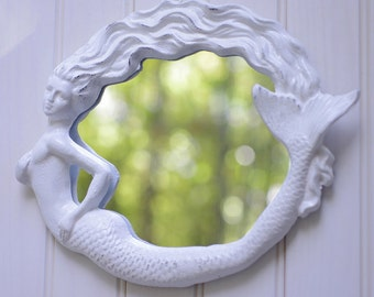 Mermaid Mirror - Beach Style - Cottage Decor