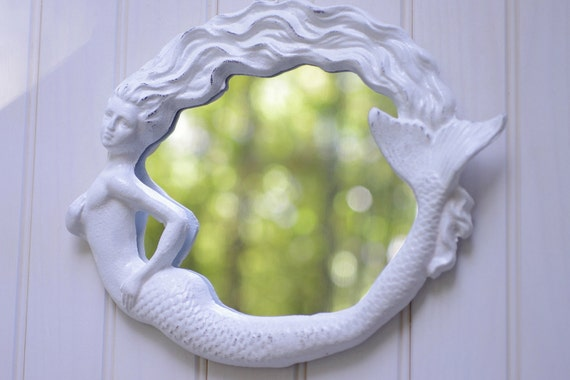 Mermaid Mirror - Beach Style - Cottage Decor
