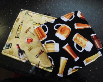 Beer and wine hot pad