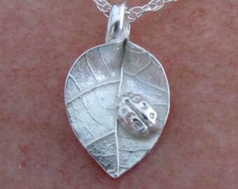 Ladybug & Leaf Necklace