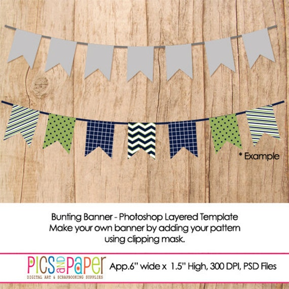 items similar to bunting banner with square flag photoshop