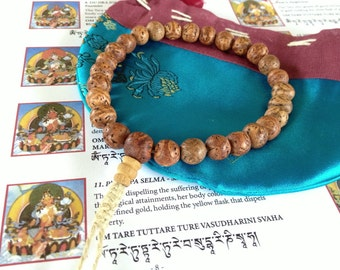 All Natural Bodhi Seed wrist mala 27  beads for meditation with Hemp string BSM-130