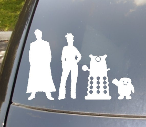 The Doctors Family Car Sticker Set Of - Family car sticker decals