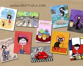 Custom postcards set. 10 postcards glossy finish