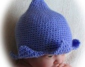 Crochet Pattern for Flower Fairy Bluebell Hat in 4 sizes - INSTANT DOWNLOAD .pdf