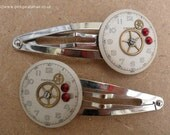 Vintage style steampunk hair clips