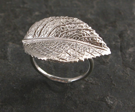Women's Gift, Silver Ring,Natural Silver Leaf Ring,Raywood Silver Leaf Ring  ,Silver Leaf Ring Inspired By Mother Earth