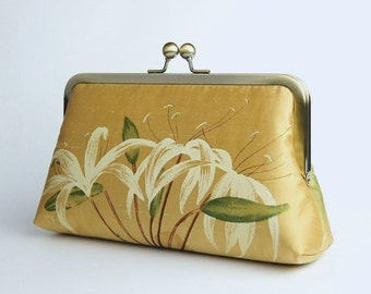 Silk Clutch, Wedding clutch, Wedding purse, Bridesmaid clutch, Wedding bag, Bridal clutch