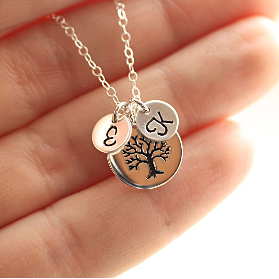 personalized mother 39 s necklace two sterling silver. Black Bedroom Furniture Sets. Home Design Ideas