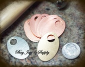 Oval Washer Stamping Blanks ...NICKEL SILVER - 5 for You - for Jewelry, Stamping, and more....