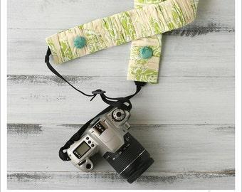 CLOSEOUT SALE - ruched camera strap cover - margarita