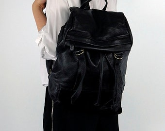 Supple Leather Backpack - Black